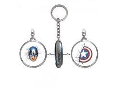 Брелок двухсторонний Капитан Америка