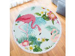 Пляжный коврик. Два Фламинго.150см