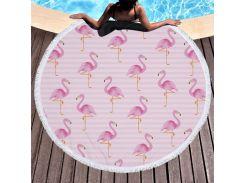 Пляжный коврик. Фламинго. 150см.