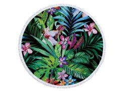 Пляжный коврик Райский сад микрофибра 150см