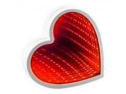 Светильник Бесконечность с USB Сердце (красный)