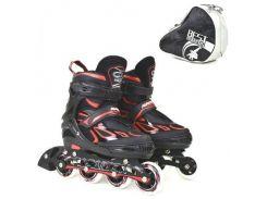 """Ролики """"Best Roller"""", размер 35-38 (черно-красные) 6006"""