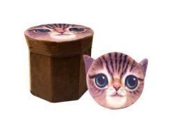 """Корзина-пуфик для игрушек """"Кот"""" 3D-1701"""