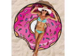 Пляжный коврик Пончик. 143 см.