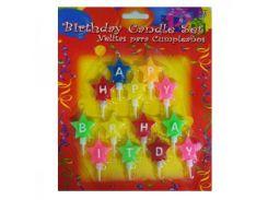 Свечи буквы Happy Birthday возможна треснутая буква