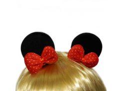 Уши Микки Мауса с бантом (черные)