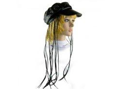 Кепка женская с косичками черная