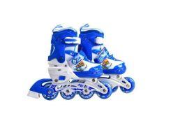 Ролики раздвижные со светящимися колёсами, 31-34 размер (голубые) YW03421