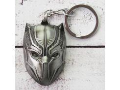 Брелок МТО Объемный Черная Пантера серебро №23