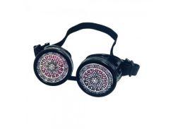 Очки Стимпанк с ажурными решетками (черные)