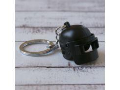 Брелок МТО Объемный шлем PUBG черный №25