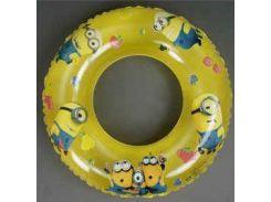 Круг для купания желтый 70см арт. 779-706 с рисунком (миньйоны)