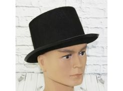 Шляпа Цилиндр фетр (черный)