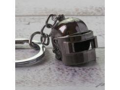 Брелок БКИ 2014 Объемный шлем PUBG маленький (серебро)