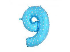 Шарик Цифра (80см) голубой 9