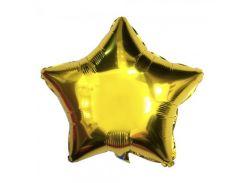 Шарик Звезда (45см) в упаковке золото