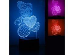 3D Светильник Мишка 5-1