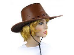 Шляпа Ковбоя кожа (шоколад)