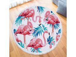 Пляжный коврик. Четыре Фламинго. 150 см.