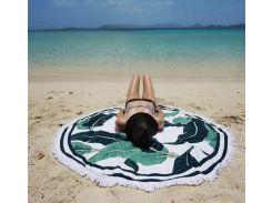 Пляжный коврик. Летнее листья.