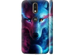 Чехол на Motorola MOTO G4 Арт-волк (3999c-511-22700)