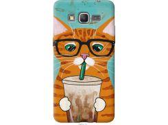 Чехол на Samsung Galaxy J2 Prime Зеленоглазый кот в очках (4054u-466-22700)