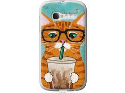 Чехол на Alcatel One Touch Pop C5 5036D Зеленоглазый кот в очках (4054u-324-22700)