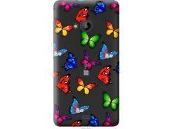 Чехол на Microsoft Lumia 535 Красочные мотыльки (4761u-130-22700)