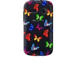 Чехол на Alcatel One Touch Pop C3 4033D Красочные мотыльки (4761u-323-22700)