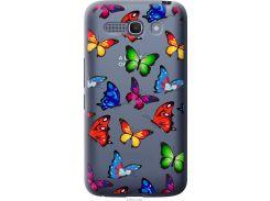 Чехол на Alcatel One Touch POP C9 Красочные мотыльки (4761u-319-22700)