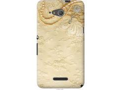 Чехол на Sony Xperia E4g Кружевной орнамент (2160u-326-22700)