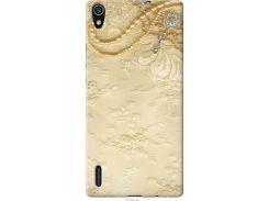 Чехол на Huawei Ascend P7 Кружевной орнамент (2160u-49-22700)