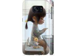 Чехол на Samsung Galaxy S7 G930F Милая девочка с зайчиком (4039c-106-22700)