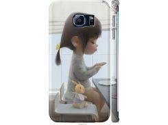 Чехол на Samsung Galaxy S6 Edge G925F Милая девочка с зайчиком (4039m-83-22700)