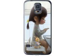 Чехол на Samsung Galaxy S5 Duos SM G900FD Милая девочка с зайчиком (4039u-62-22700)