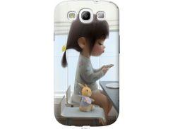 Чехол на Samsung Galaxy S3 Duos I9300i Милая девочка с зайчиком (4039t-50-22700)