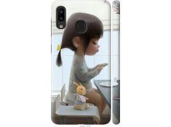Чехол на Samsung Galaxy A20e A202F Милая девочка с зайчиком (4039m-1709-22700)