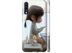 Чехол на Samsung Galaxy A70 2019 A705F Милая девочка с зайчиком (4039m-1675-22700)