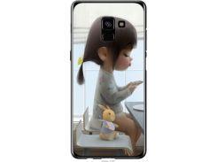 Чехол на Samsung Galaxy A8 Plus 2018 A730F Милая девочка с зайчиком (4039u-1345-22700)
