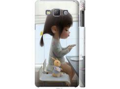 Чехол на Samsung Galaxy A7 A700H Милая девочка с зайчиком (4039c-117-22700)