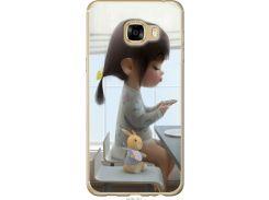 Чехол на Samsung Galaxy C5 C5000 Милая девочка с зайчиком (4039u-301-22700)