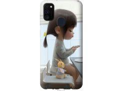 Чехол на Samsung Galaxy M30s 2019 Милая девочка с зайчиком (4039t-1774-22700)