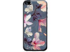 Чехол на iPhone 5 Нарисованные цветы (2714u-18-22700)