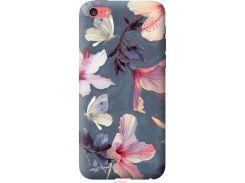 Чехол на iPhone 5c Нарисованные цветы (2714u-23-22700)