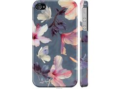 Чехол на iPhone 4 Нарисованные цветы (2714m-15-22700)
