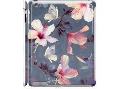 Чехол на iPad 2/3/4 Нарисованные цветы (2714m-25-22700)