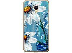 Чехол на Meizu M5 Красивые арт-ромашки (4031u-420-22700)
