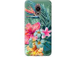 Чехол на Meizu Pro 6 Тропические цветы v1 (4667u-293-22700)