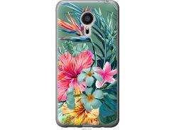 Чехол на Meizu MX5 Тропические цветы v1 (4667t-105-22700)