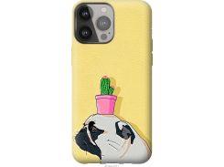 Чехол на iPhone 13 Pro Max Мопс с кактусом (4516u-2371-22700)